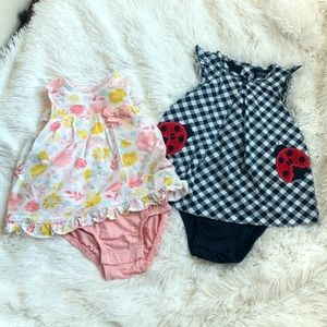 Set of 2 Carters baby Onesie/dress Size 18M